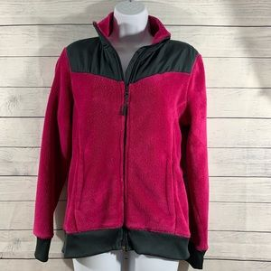 Danskin Now Magenta Quartz Fleece 2-Way Jacket
